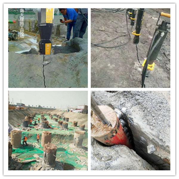西藏省二氧化碳破石头已被淘汰现代工具劈裂机,分石机