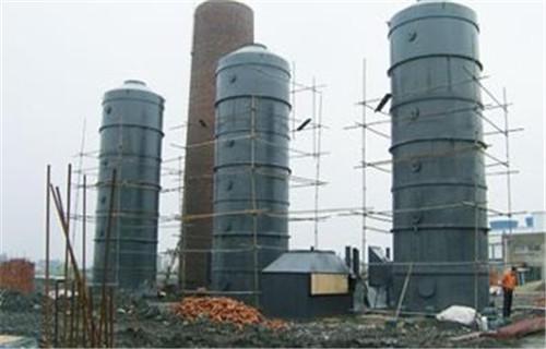 朝阳市6吨锅炉脱硫塔烟道喷淋脱硝设6000m3/h烟气脱硫塔