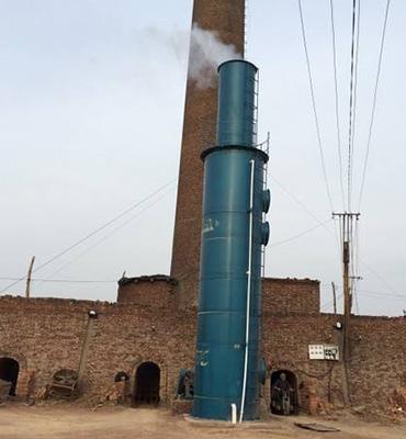 葫芦岛市粮食烘干塔除尘脱硫设备SNCR脱硝设备24000m3/h烟气脱硫塔