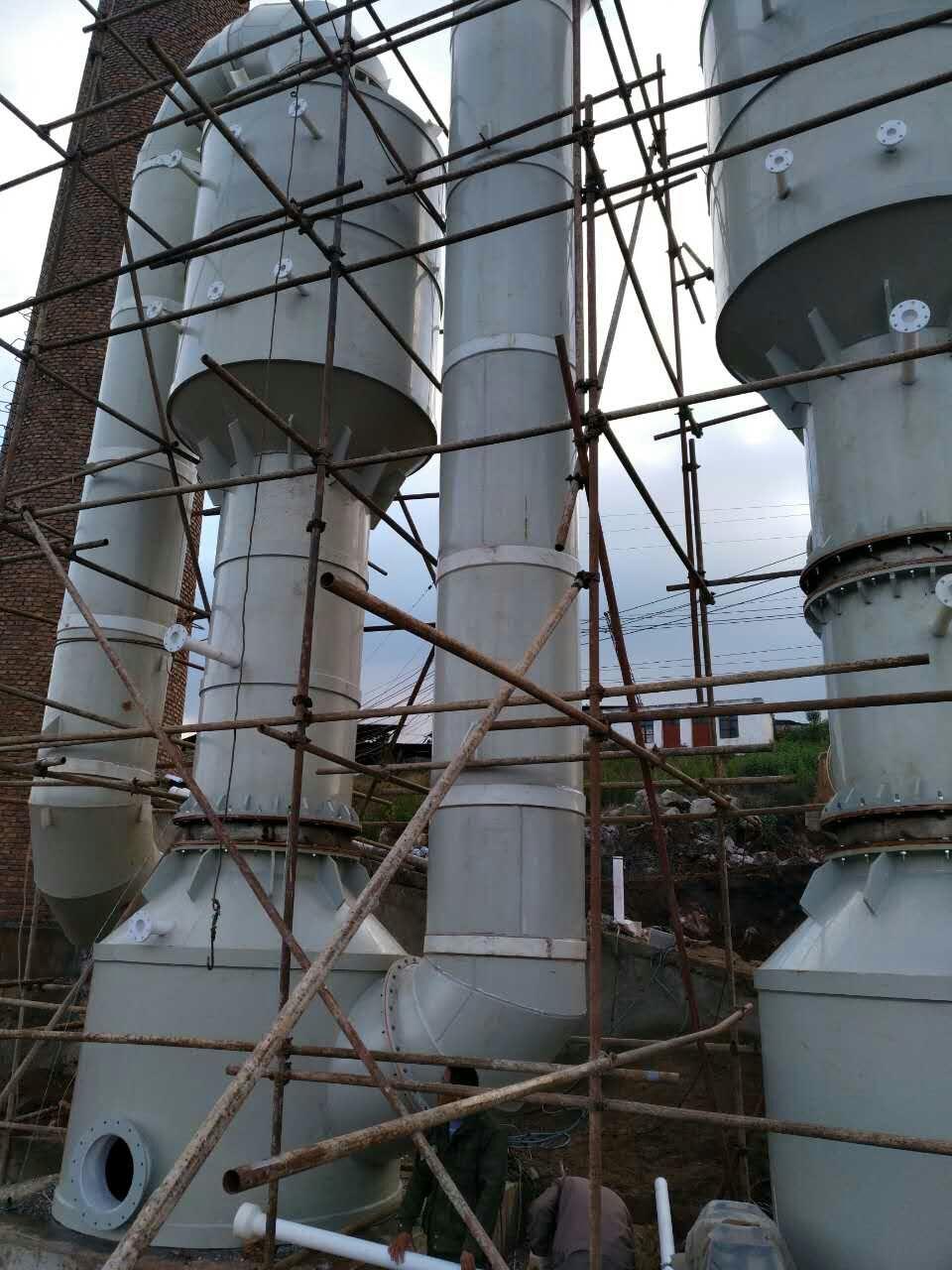 朝阳市砖窑除尘脱硫设备烟气净化设备45000m3/h烟气脱硫塔