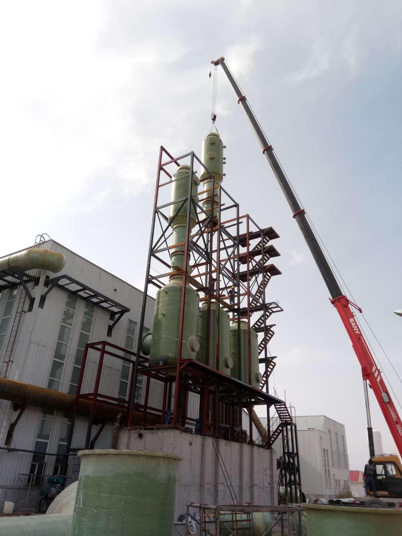 盘锦活性炭催化燃烧设备锅炉脱硫塔6000m3/h烟气脱硫塔
