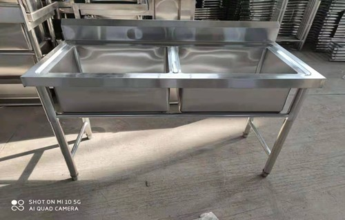 鄂州承接尺寸定制酒店食堂不锈钢水池