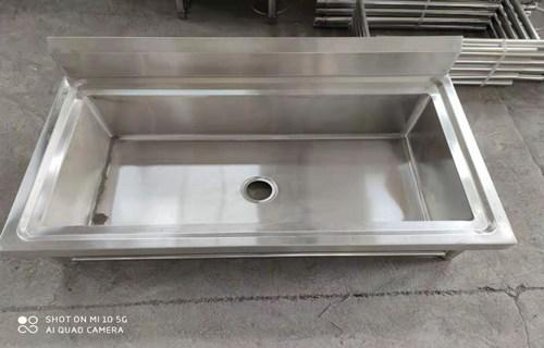 驻马店源头厂家承接异形定制幼儿园专用不锈钢水池