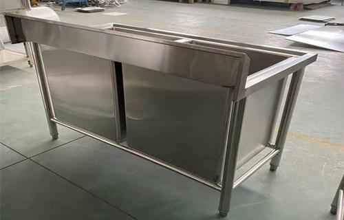 内江源头工厂异形定制不锈钢水池柜
