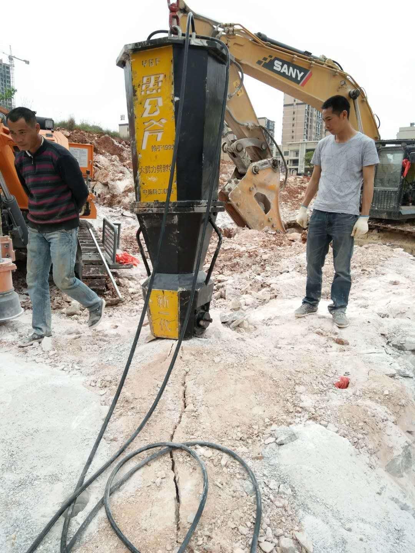 安庆静态裂石机地基改造岩石破碎用开采分石机