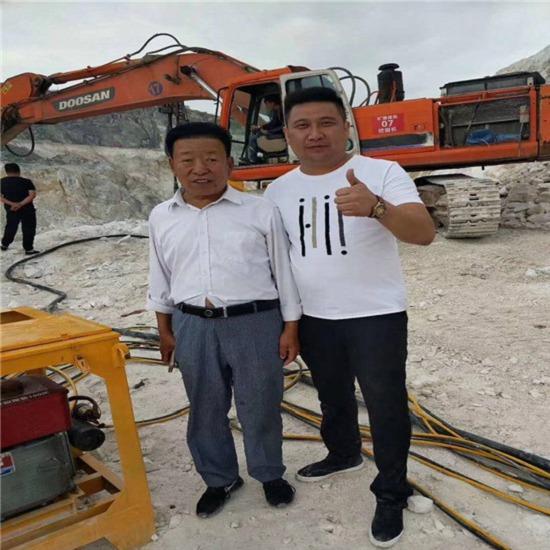西藏不能放炮怎么开采矿石用劈裂机