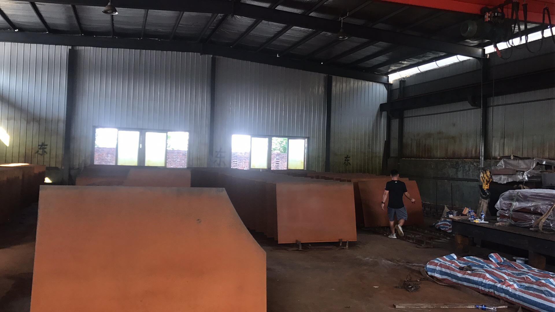(耐候钢板镂空焊接查看)马鞍山钢厂