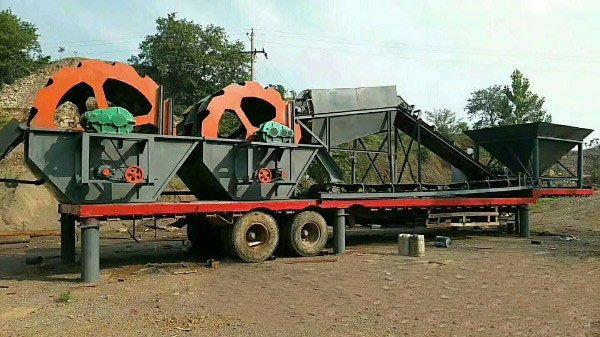 平顶山水洗轮风化沙制沙生产线挖斗洗沙机