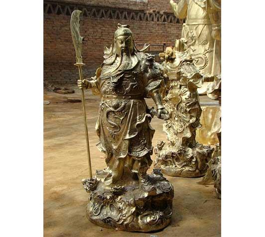 黔西南武财神铜雕