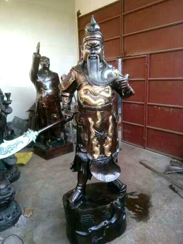 东营关公铜雕