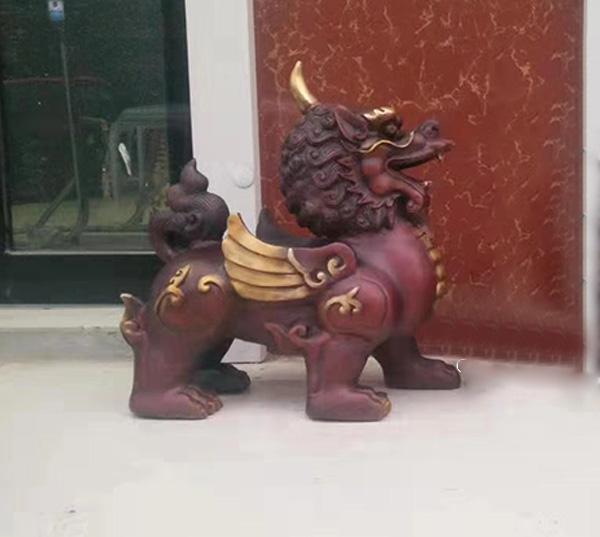 锦州铜麒麟铜雕