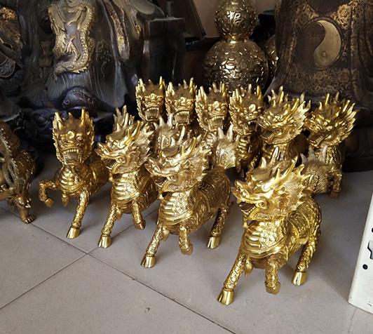 锦州铜麒麟厂家河北烁燊铜雕