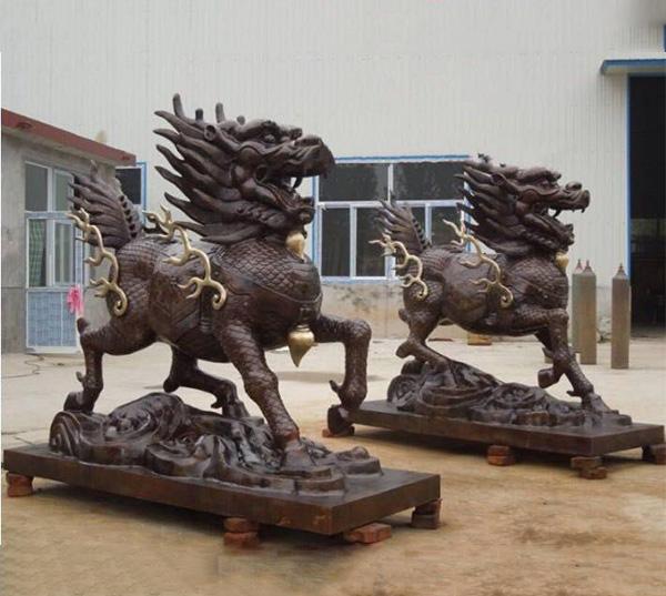 黔西南铜麒麟厂家河北烁燊铜雕