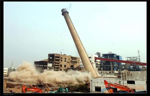 临沂35米烟囱拆除价格