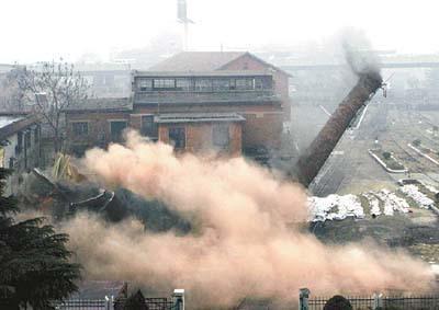惠州60米砖砌烟囱人工拆除价格——华电高空