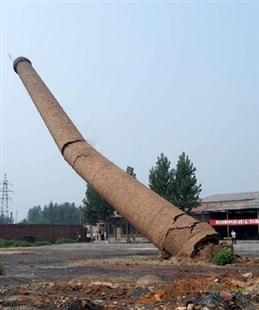 内江60米砖砌烟囱人工拆除价格——华电高空