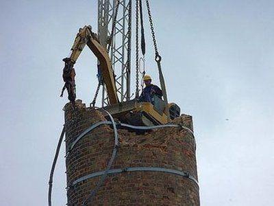 抚州60米砖砌烟囱人工拆除价格——华电高空