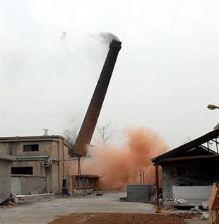 抚州砖烟囱拆除施工方案——华电高空