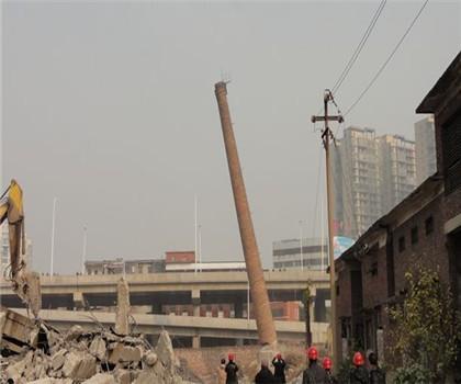 池州60米砖烟囱拆除公司