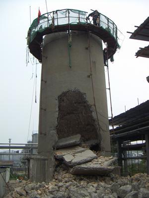 怀化40米砖烟囱拆除公司