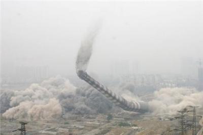 安康65米砖烟囱拆除公司