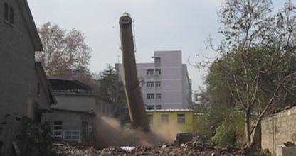 厦门40米砖烟囱拆除公司