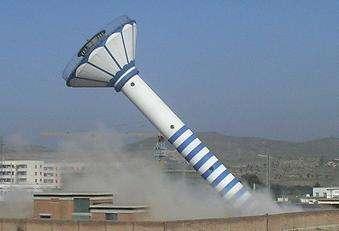 惠州35米砖烟囱拆除公司