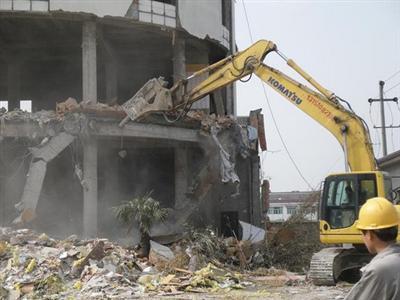 惠州20米砖烟囱拆除公司