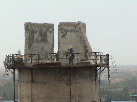 内江25米砖烟囱拆除公司