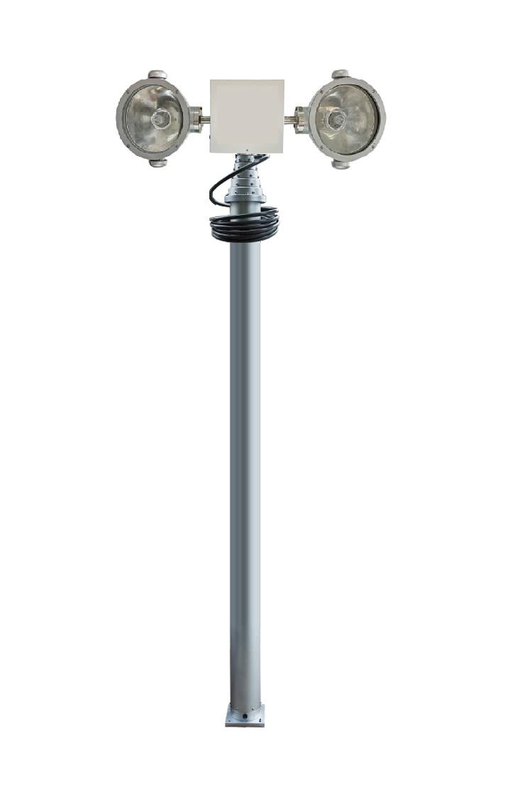 小型道路施工照明灯充电式移动照明灯弓形天线是全向天线