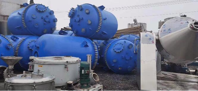 陕西安康旬阳出售十五台二手6吨搪瓷反应釜厂家