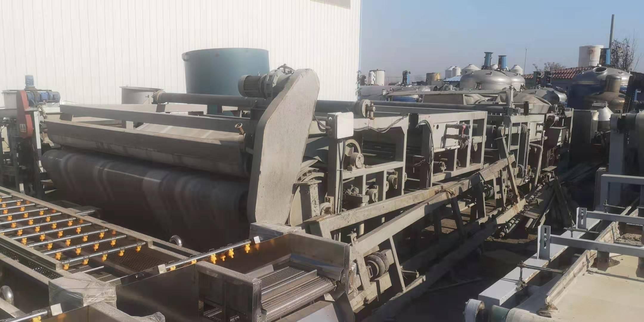 山东德州临邑出售15台二手3米X12米带式压滤机