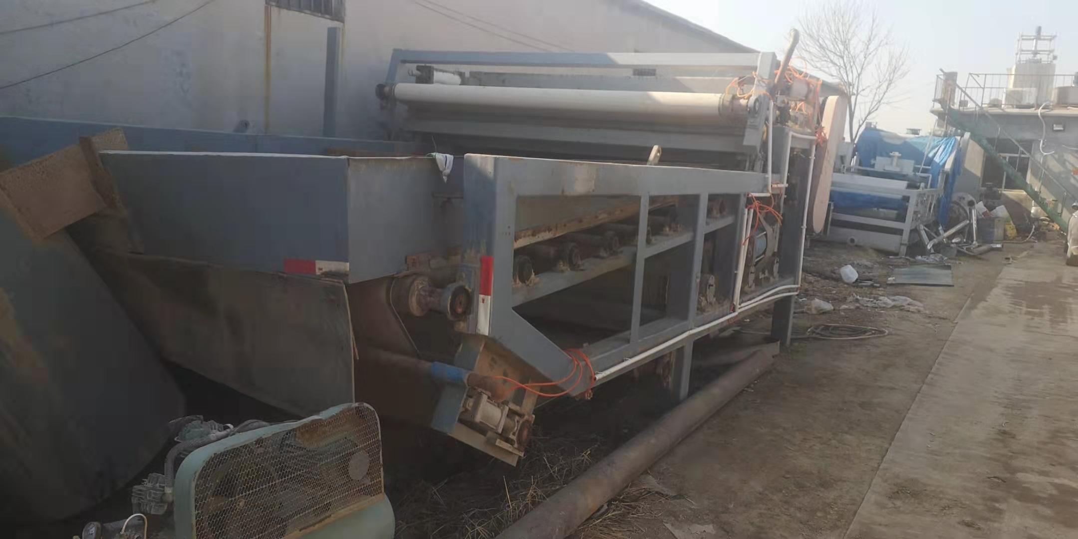 山东德州平原出售15台二手1米X5米带式压滤机