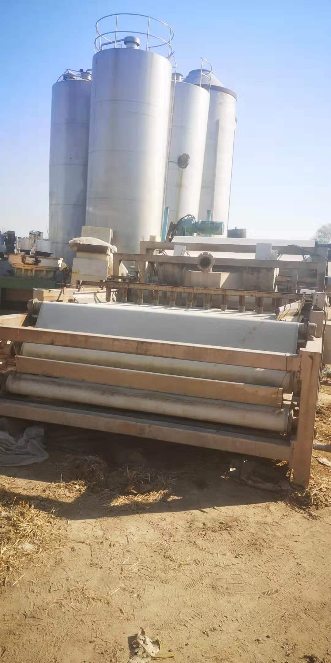 陕西延安宝塔求购30台3米X12米带式压滤机购销