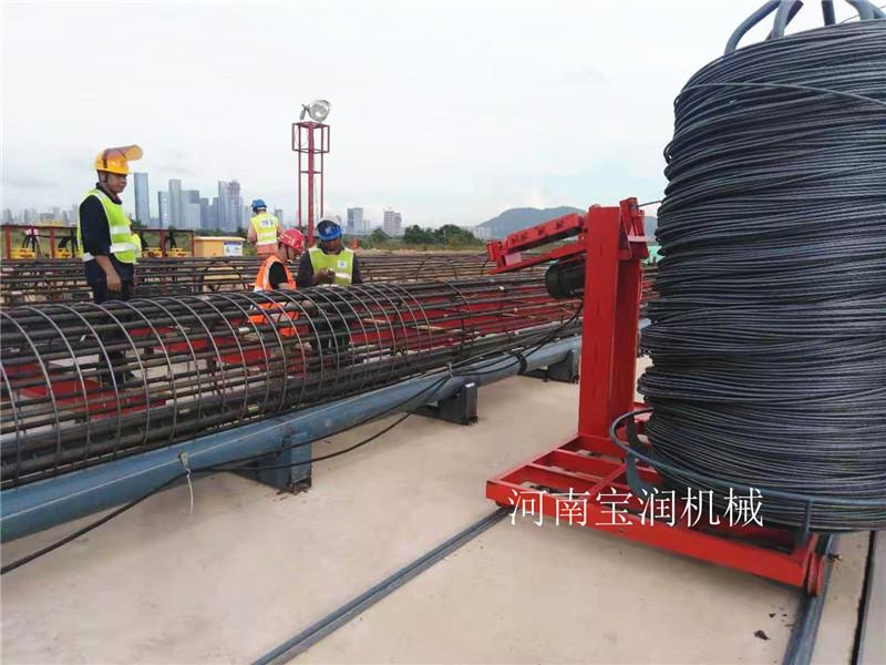 辽宁锦州钢筋笼滚笼机一次成型