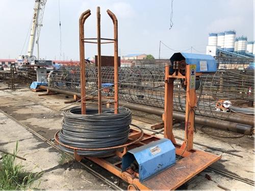河北沧州河间钢筋笼绕筋机半自动钢筋笼绕筋机全国供应现货