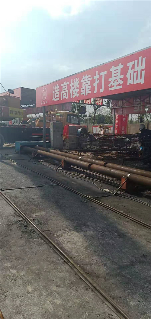 山东省郯城县钢筋笼绕筋机安装设计