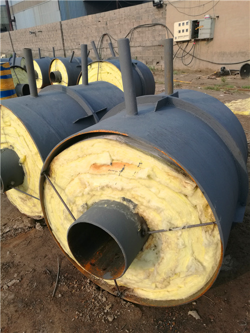 新余DN200直埋钢套钢保温固定墩价格