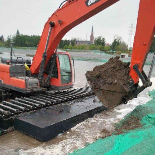 陕西省安康市沼泽地水上挖机租赁河道清淤