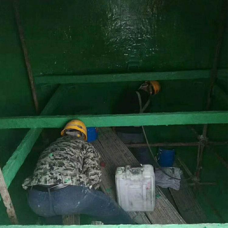 海南省海口市玻璃鳞片胶泥电厂烟道防腐