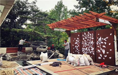 广东耐候钢板锈钢板景墙设计加工欢迎实地考察