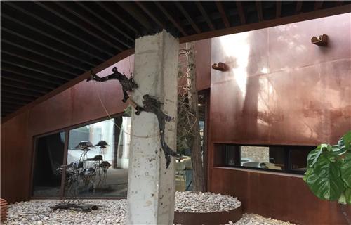 鹤壁华建耐候钢板园林景观定制厂家