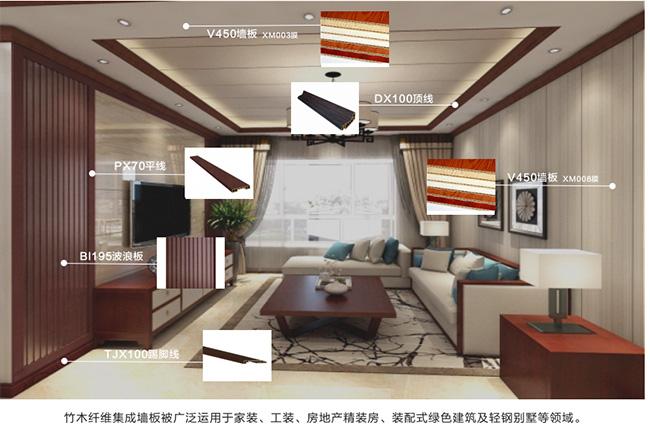 天水市麦积竹木纤维集成墙板工厂直销批发护墙板价格