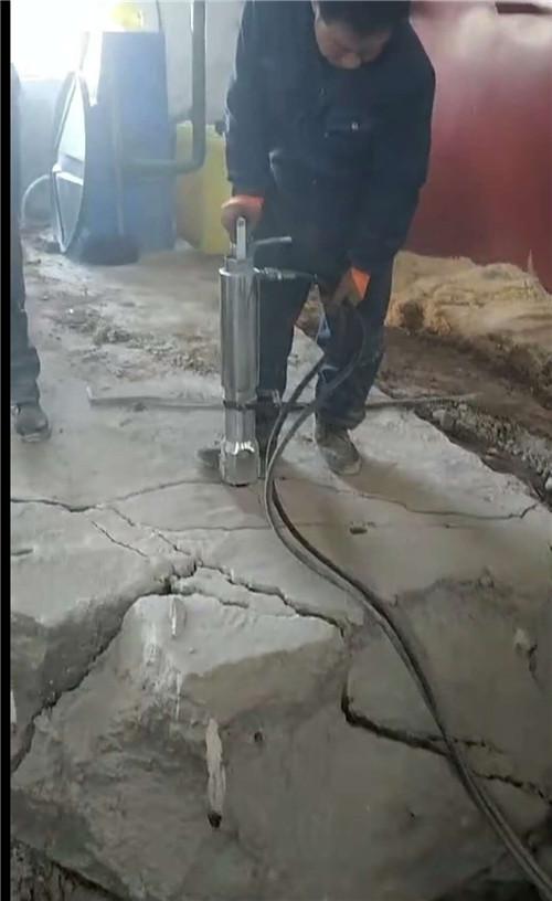 德州液压劈石机施工现场