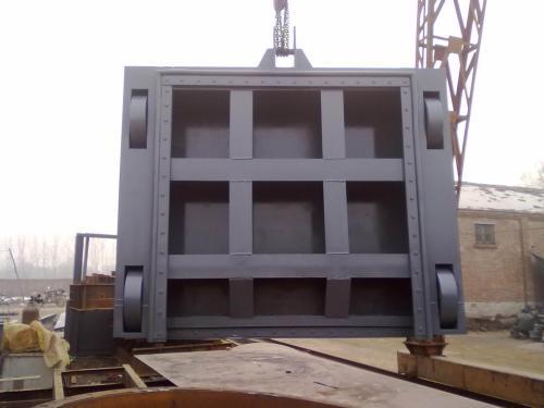 平顶山组装式拱形铸铁闸门图片