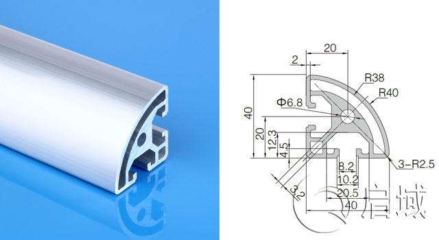 工业铝型材4040R鱼缸架制作铝合金型材