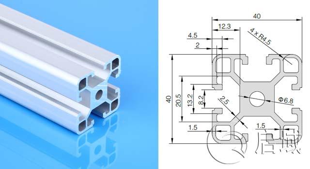 工业铝型材4040DIY设备安全围栏型材