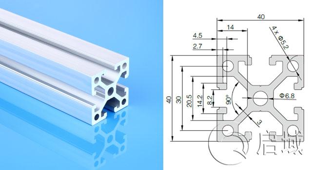 4040直角重型型无锡铝型材厂家直销量大从优