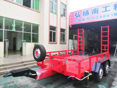 7吨ATV中型平板拖车 履带式