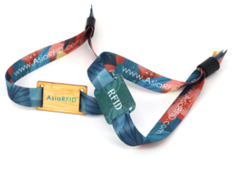 RFID一次性身份识别木质腕带卡 商演活动标配